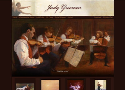 Fine Art Website Example - Artist Judy Greenan