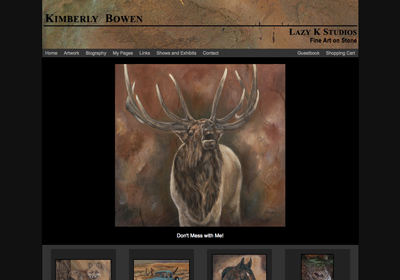 Fine Art Website Example - Artist Kimberly Bowen