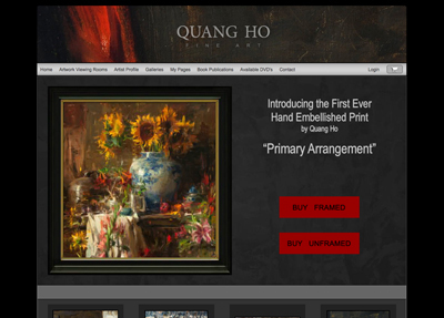 Fine Art Website Example - Artist Quang Ho