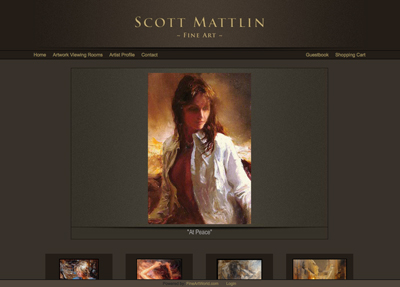 Fine Art Website Example - Artist Scott Mattlin