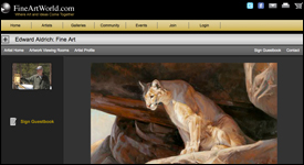 Fine Art World Artist Community Website Example