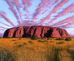 Uluru Sunset - Ayers Rock, Central Australia  Richard Harpum