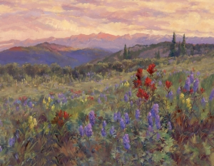 Indian Paintbrush Sunset  Jan Bushart