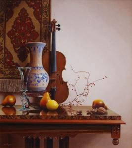 Still Life with Delft Vase and Lemon  Mark Thompson