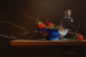 Still Life with Strawberries and Blue Bowl  Mark Thompson
