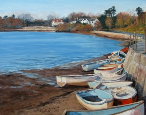 Tangled Boats; Low Tide  Ginger Whellock
