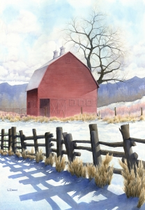 Red Barn in Spring  Laine Dobson