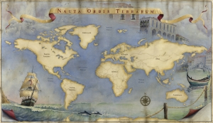 New-Old World Map  Laine Dobson