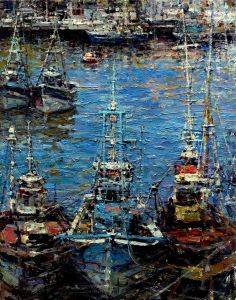 Harbor Boats, Portugal  Nikolo Balkanski