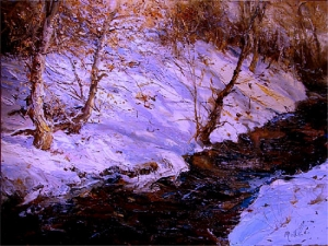 """Autumn Leaves-Winter Light"" by Scott Mattlin"