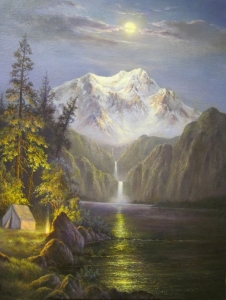 Camp in the Moonlight by Douglas Miley