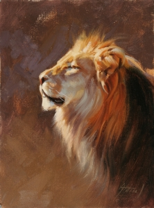 Lion portrait by Edward Aldrich