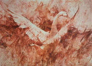 White Goose by Richard Schmid