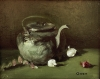 Teapot and Onions by Gwen Voorhies